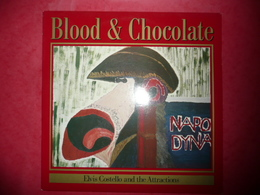 LP N°1550 - ELVIS COSTELLO & THE ATTRACTIONS - BLOOD & CHOCOLATE - COMPILATION 11 TITRES ROCK NEW WAVE POP - Rock