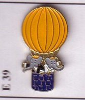 E39 Pin's MONTGOLFIERE BALLOON BABAR 2 ÉLÉPHANT Achat Immédiat - Fesselballons