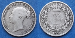 UK - Silver 6 Pence 1846 KM# 733.1 Victoria (1837-1901) - Edelweiss Coins - Otros