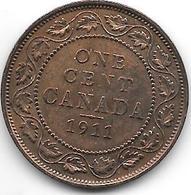 * Canada 1 Cent 1911  Km 15   Xf - Canada