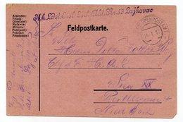 1917  WWI  AUSTRIAN OCCUPATION OF SERBIA, LAJKOVAC, KUK MILITARY POST TO VIENNA, FELDPOST KARTE - 1850-1918 Empire
