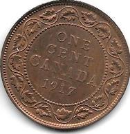 * Canada 1 Cent 1917  Km 21   Xf - Canada