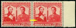 Romania 1943 King Michael I,Prince D. Bibescu,Artillery,WW1,Mi.789,Variety ERROR - Nuevos