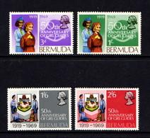 BERMUDA    1969    50th Anniv  Of  Bermuda  Girl  Guides    Set  Of  4    MNH - Bermuda