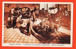 SAM032 PARIS XV Ecole VIOLET 115 Avenue Emile ZOLA Et 70 Rue Du THEATRE Laboratoire Mécanique Moteurs Thermiques 1920s - Arrondissement: 15