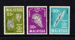 MALAYSIA    1965    3rd  Pensinsular  Games    Set  Of  3    MNH - Malaysia (1964-...)