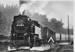 AK 0412  75 Jahre Harzquerbahn ( Jubiläumskarte Mit Sonderzug Von Nordhausen Nach Wernigerode )/ Ostalgie , DDR   1974 - Eisenbahnen