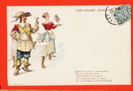 SAM072 SAINT-GALMIER St Source BADOIT Panache MOUSQUETAIRE Cppub 1907 à CHOULET Chez COT Négociant Banyuls-sur-Mer - Autres Communes