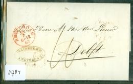 HANDGESCHREVEN BRIEF Uit 1862 Gelopen Van AMSTERDAM Naar DELFT * FIRMASTEMPEL  (11.784) - Periodo 1852 – 1890 ( Guillermo III)
