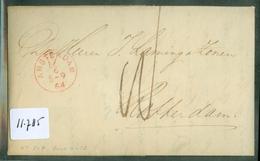 HANDGESCHREVEN BRIEF Uit 1864 Gelopen Van AMSTERDAM Naar ROTTERDAM  (11.785) - Periodo 1852 – 1890 ( Guillermo III)