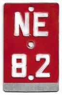 Velonummer Neuenburg NE 82 - Plaques D'immatriculation