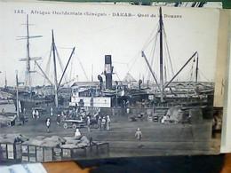 AFRIQUE OCCIDENTALE FRANCAISE - SENEGAL - DAKAR - DOUANE  NAVE SHIP  CARGO  TRE ANIME VB1919 TIMBRE ITALIA  HK4149 - Senegal