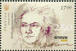 Ukraine 2020. #1805 MNH/Luxe. Ludwig Van Beethoven. 1770-1827. - Ucrania