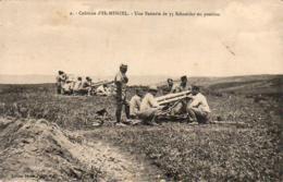 MAROC  EL-MENZEL  Une Batterie De 75 Schneider En Position  ..... - Morocco
