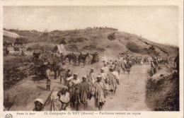 MAROC  CAMPAGNE DU RIFF  Partisans Venant Au Repos  ..... - Maroc