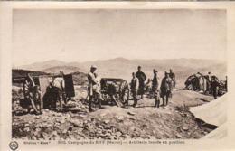 MAROC  CAMPAGNE DU RIFF  Artillerie Lourde En Position  ..... - Morocco