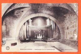 Car050 MAGUELONNE 34-Hérault Intérieur De La Cathédrale 1912 De Jean CARRAT à Honoré VILAREM Port-Vendres - Autres Communes