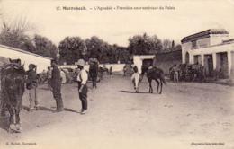 MAROC  MARRAKECH   L' Aguadaï- Première Cour Extérieure Du Palais  ..... - Marrakech