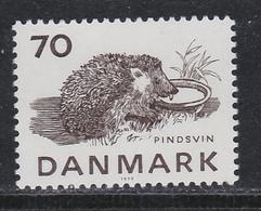 HEDGEHOG HÉRISSON IGEL RICCIO ERIZO DENMARK  DANMARK DÄNEMARK 1975 Mnh MI 603 - Nager