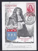 Carte Federale Journee Du Timbre 1947 Perpignan - Francia