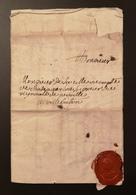 Lettre De La Celle Vicomte Chateauclos Seigneur Vignaud De Neville à Villebaton - Postmark Collection (Covers)