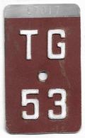 Velonummer Thurgau TG 53 - Plaques D'immatriculation