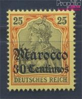 Dt. Post Marokko 25 Postfrisch 1905 Germania-Aufdruck (8305224 - Deutsche Post In Marokko