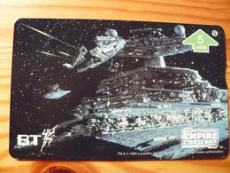 Phonecard United Kingdom, BT - Star Wars, The Empire Strikes Back 5. 1000 Ex. - Regno Unito