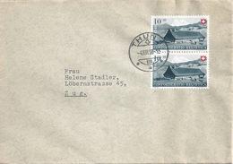 Brief  Thun - Zug          1948 - Switzerland