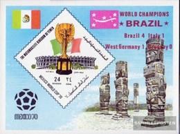 Yemen (UK) Block216 (complete Issue) Unmounted Mint / Never Hinged 1970 Winner Football-WM 1970 In Mexico - Yemen