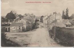 SAINT SAUVEUR Le VICOMTE - Rue De La Gare. Personnages. Publicités Amer Picon, Cycles Clément ...... - Saint Sauveur Le Vicomte