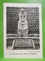 Le Monument Aux Morts à Rodange. 10e Anniversaire Du Départ En Exil... - Rodange