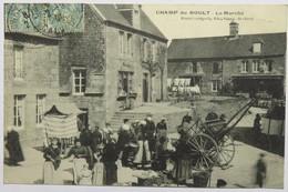 C. P. A. : 14 CHAMP DU BOULT Le Marché, Belle Animation, Timbre En 1908, RARE - France