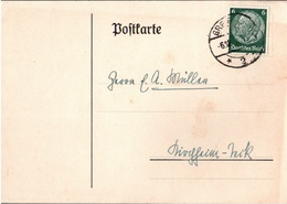 ! 2 Ganzsachen 1935 Aus Greifswald, Autograph Professor Günther Jacoby, Philosoph, L.A.S. - Autógrafos