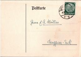 ! 2 Ganzsachen 1935 Aus Greifswald, Autograph Professor Günther Jacoby, Philosoph, L.A.S. - Autographes