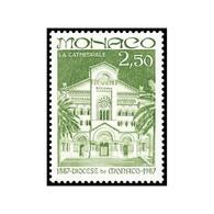 Timbre N° 1574 Neuf ** - Centenaire De La Création Du Diocèse De Monaco. La Cathédrale. - Monaco