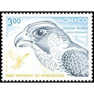 Timbre N° 1856 Neuf ** - Faune. Rapaces Du Parc National Du Mercantour. Faucon Pèlerin. - Monaco