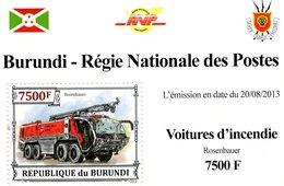 Burundi 2013  -  Voitures D'Incendie  -  Rosenbauer -  1v MS Neuf/Mint/MNH - Trucks