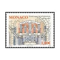 Timbre N° 2842 Neuf ** - Grand Orgue De La Cathédrale De Monaco. Détail De L'orgue. - Monaco