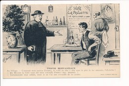 Carte Humoristique Propos Morvandiaux ( Morvan )( Curé / Absinthe / Café )( Illustrateur A P Jarry ) - Sin Clasificación