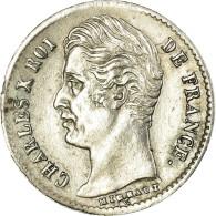 Monnaie, France, Charles X, 1/4 Franc, 1829, Rouen, SUP, Argent, Gadoury:353 - France