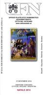 VATICANO - 2014 Brochure Bollettino UFN - Natale 2014 Emissione Congiunta Con Argentina - Emissioni Congiunte