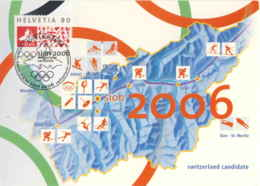 952  Jeux Olympiques 2006, Ski, Hockey Sur Glace - Winter Olympics Candidate Sion, Switzerland. Ice Patinage - Hockey (sur Glace)