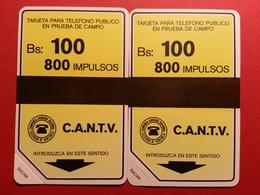 VENEZUELA URMET C.A.N.T.V. SIDA TARJETA PRUEBA TRIAL TEST CARD 13,5 & 15 Mm Band 1984 NEUVE MINT (LA0120) CANTV - Venezuela