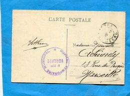 Guerre 14-18-carte De La  Placette-isère - Cachet-hopital  Temporaire  Municipal -Voreppe -isère-cad 26-2 16 - Marcophilie (Lettres)