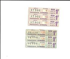 6 Tickets. Tickets Anciens. Transports Citroën. Voir Description - Autres