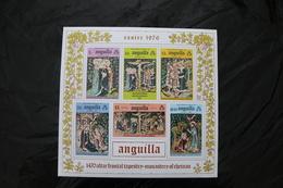 Anguilla 258a Easter Scenes MNH Souvenir Sheet Block 1976  A04s - Anguilla (1968-...)