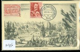 ANSICHTKAART MICHIEL DE RUYTER * TOCHT NAAR CHATHAM * 1944  AMSTERDAM-WATERGRAAFSMEER    (11.796) - Historische Persönlichkeiten