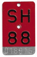 Velonummer Schaffhausen SH 88 - Plaques D'immatriculation