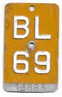 Velonummer Mofanummer Basel Land BL 69 (erste Gelbe Töfflinummer BL) - Plaques D'immatriculation